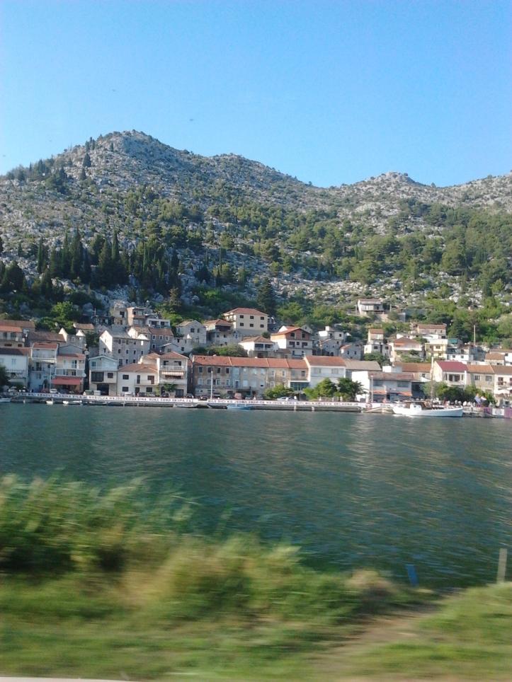 Visual da estrada para Dubrovnik