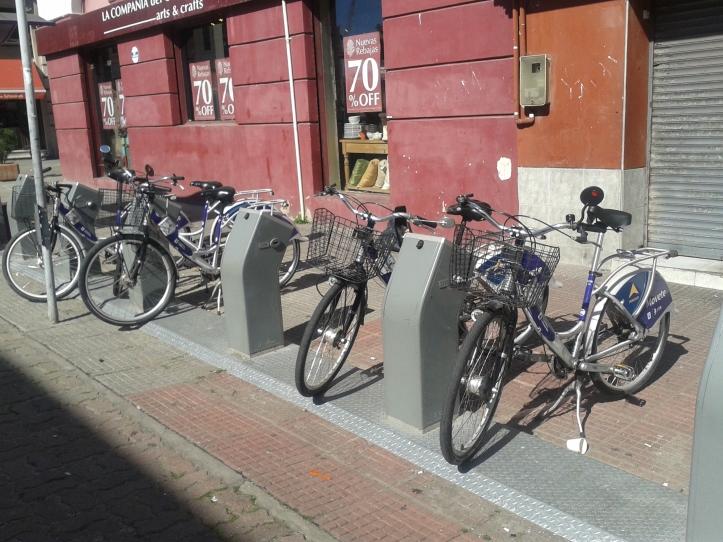 Bicicletas Movete da Cidade Velha de Montevidéu