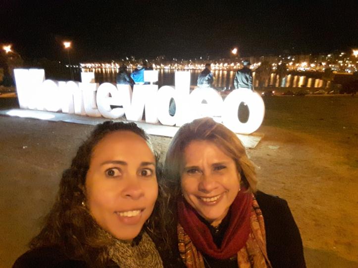 Mainha e eu em Montevidéu