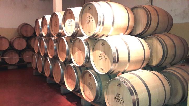 Armazenamento do vinho em barris de carvalho