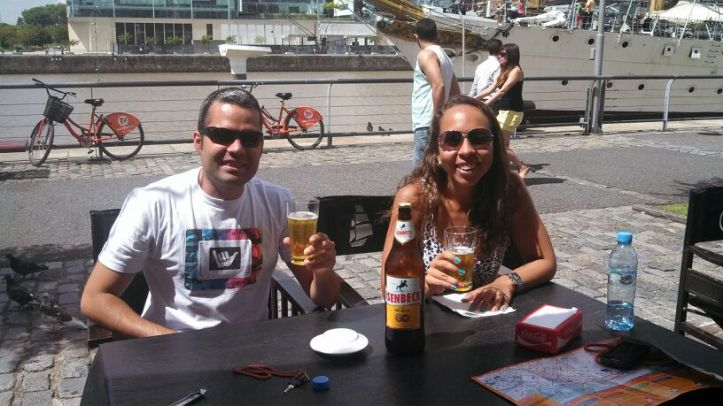 Pausa para cervejinha em Puerto Madero