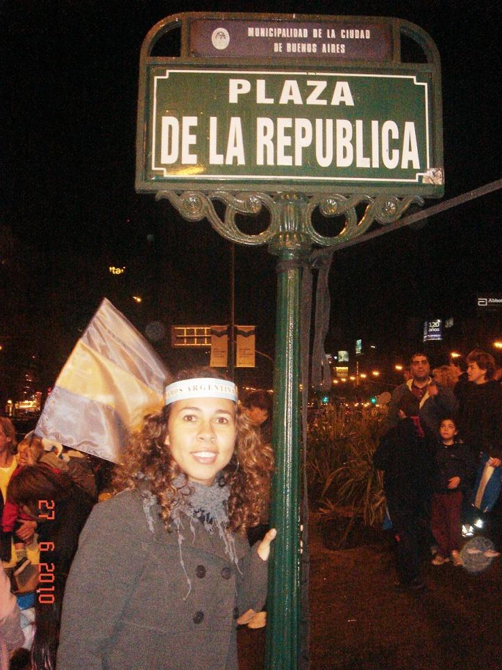 Comemoração da vitória argentina na Plaza de la República