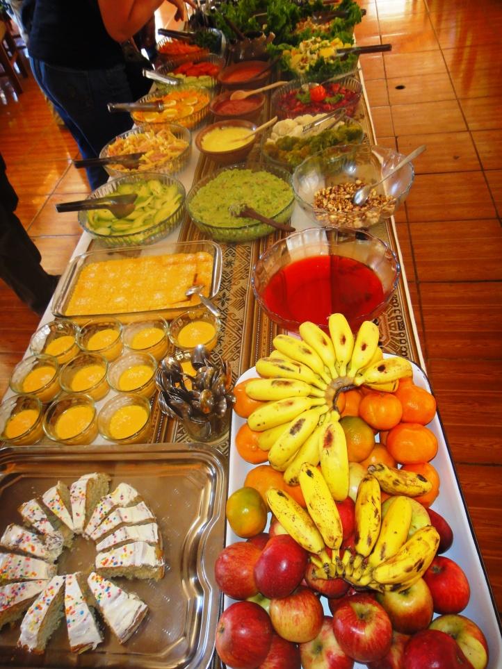 Buffet de almoço - frutas