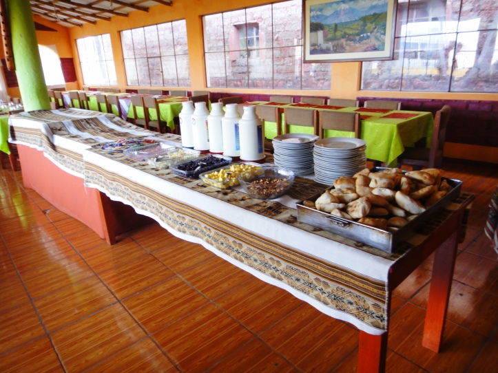 Buffet de café da manhã em Chivay