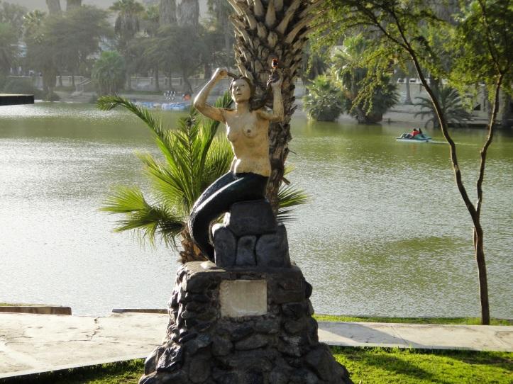 Escultura da princesa que virou sereia