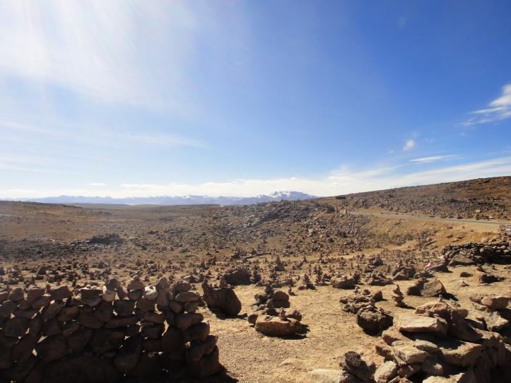 Vista da Cordilheira dos vulcões