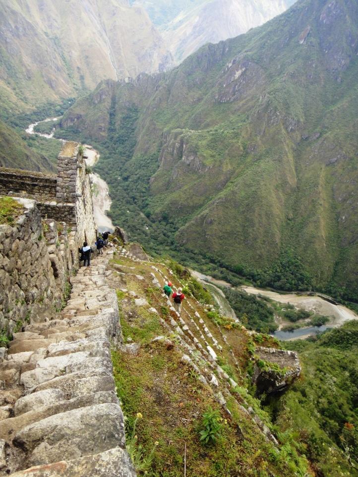 Escadaria para o topo de WaynaPicchu