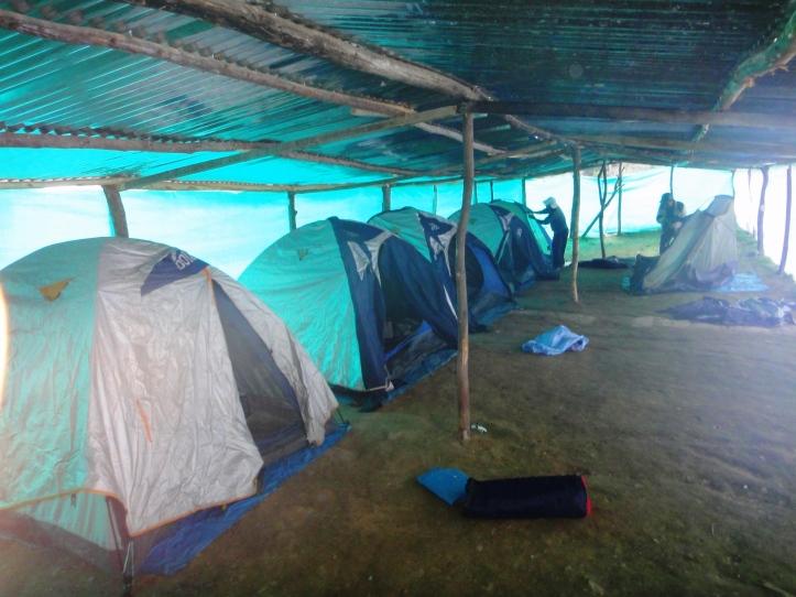 Nossas barracas de dormir