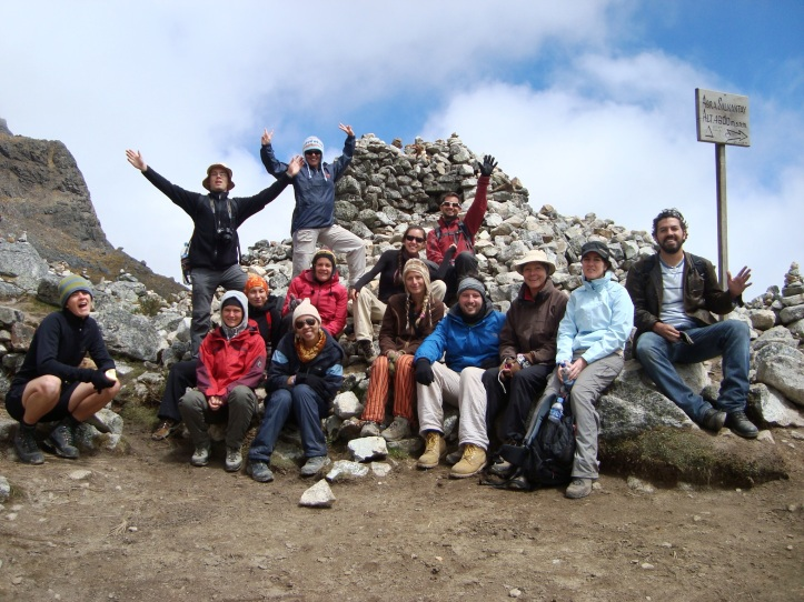 Grupo no topo do Salkanthay - 4600m de altitude!