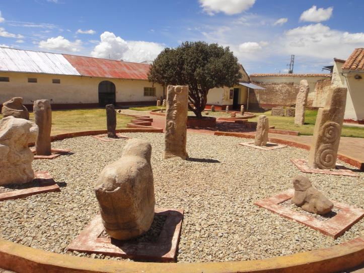 Interior do Museu Lítico de Pukara
