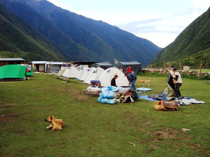 Camping do segundo dia
