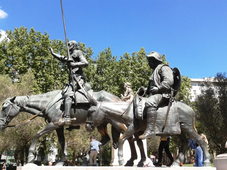 Monumento Cervantes - Dom Quixote e Sancho Pança