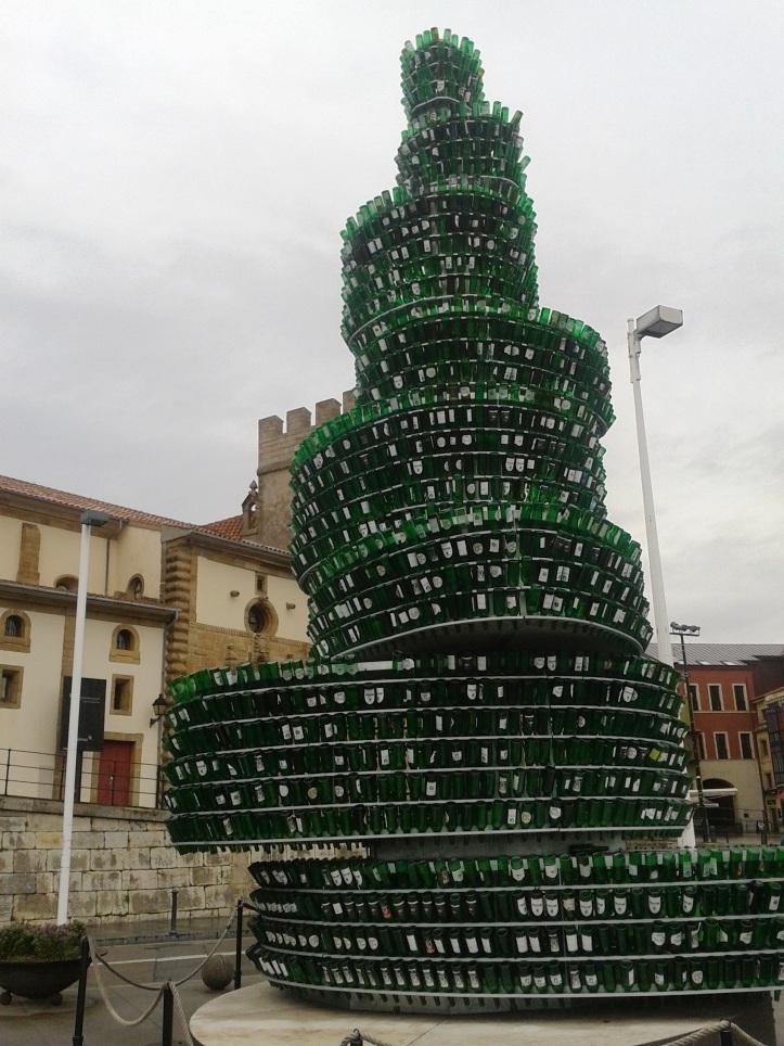 Árvore de garrafas