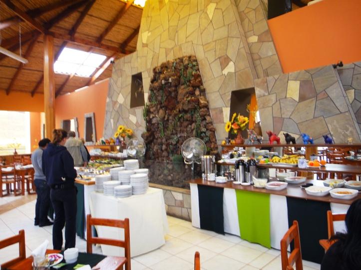 Buffet no restaurante Feliphon