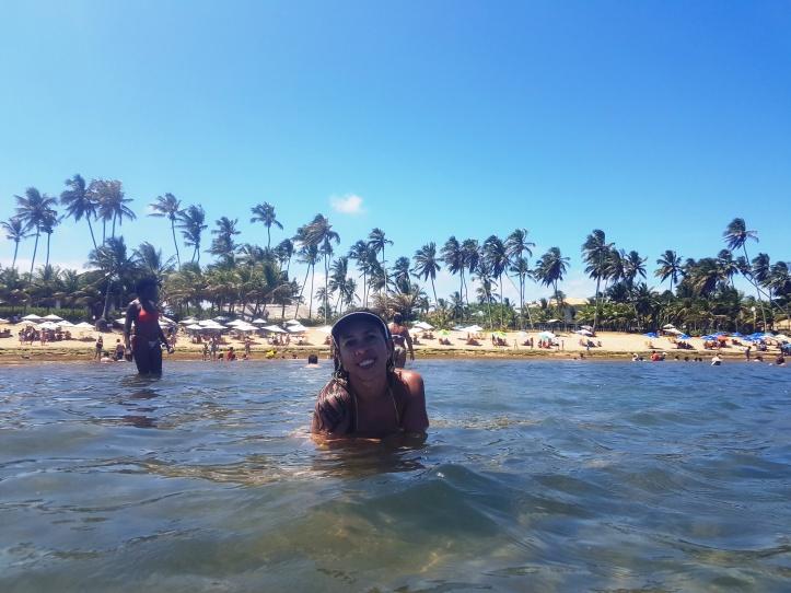 Praia do Chapéu ao fundo