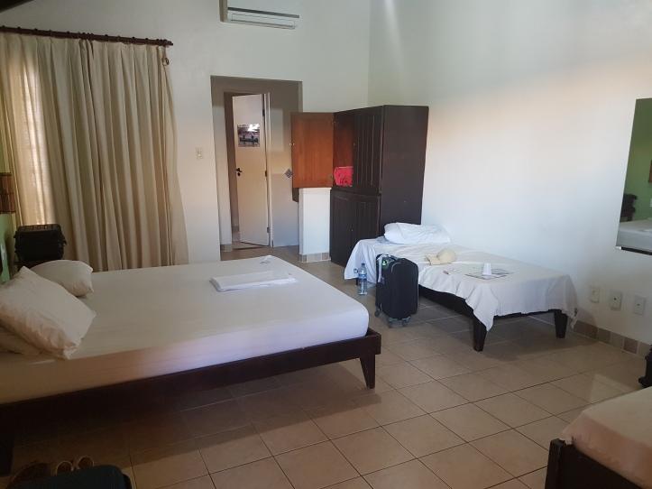 Nosso amplo quarto no Hostel