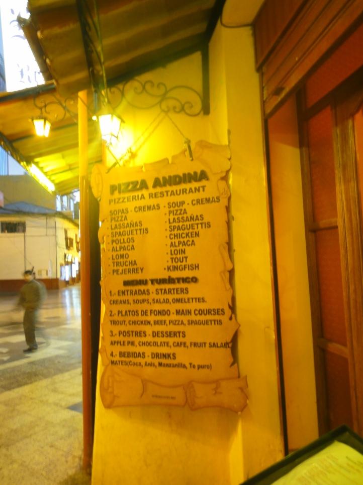 Restaurante Pizzaria Andina