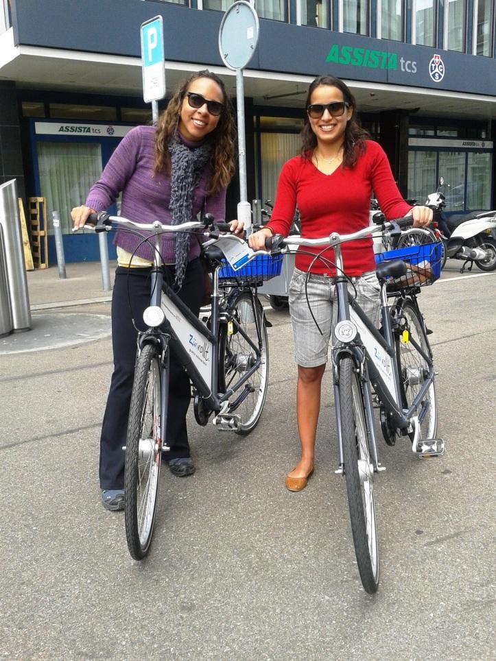 Passeio com a bicicleta gratuita